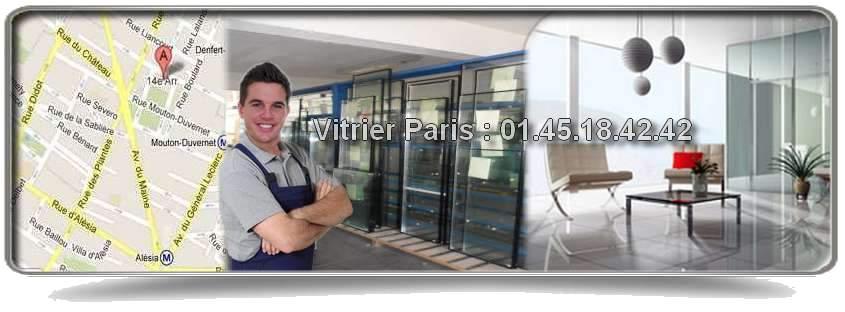 Les vitriers Paris 14 sont aptes à réparer ou à remplacer n'importe quel type de vitre : baie vitrée, porte vitrée, simple et double vitrage, fermeture provisoire (pour sécuriser le lieu en question), vitrine de magasin, etc. Notre réseau s'étend dans tout le 14ème arrondissement : rue d'Alésia, avenue de la Porte d'Orléans, rue Monticelli, boulevard du Montparnasse… Intervention 7j/7 et de 8h à minuit.