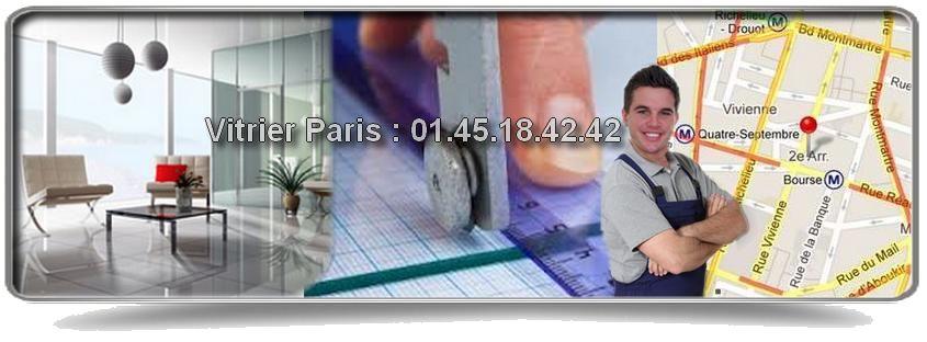 Vitrier Paris 2 intervient en urgence pour tous vos besoins en vitrerie : pose ou remplacement de simple vitrage, double vitrage, vitrine, etc, 7 jours/7, y compris durant les jours fériés et de 8h à minuit. Nos vitriers interviennent en moins d'une heure à votre domicile dans tout Paris 2 : rue du Louvre, Place de l'Opéra, rue Etienne Marcel, rue de Turbigo, rue de La Paix…